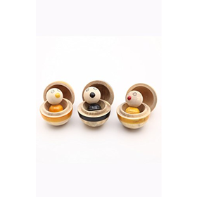 Caravan Handcrafted Wooden Mix and Match Educational Toy Bird S...