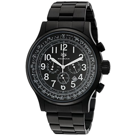 Wellington Mens Quartz Watch with Black Dial Chronograph Display a...