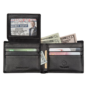 RFID Blocking Leather Wallet for Men | Travel Bifold | Card Protec...