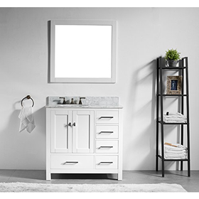 "San Clemente, 36"" vanity set, with 2 doors, 5 drawers, marble count..."