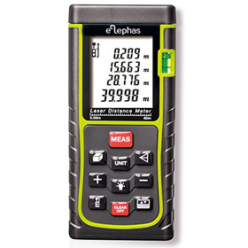 ELEPHAS (TM) E40 Laser Distance Meter with Bubble Level Rangefi...