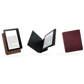 All-New Kindle Oasis E-reader with Merlot Leather Charging Cover, 6'' High-Resolution Displa