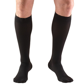 Truform 8845, Compression Stockings, Below Knee, Closed Toe, 30-40 mmhg, Black, Medium
