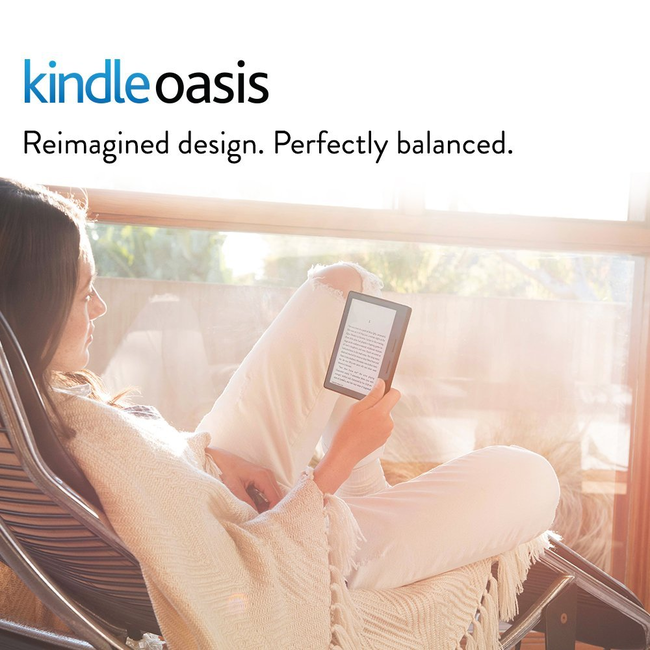 Kindle Oasis E-reader With Merlot Leather Charging Cover