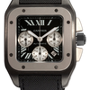 Cartier Men's W2020005 Santos 100 Chronograph Black Dial Watch: Watches: Amazon.com