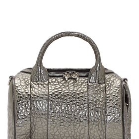 Alexander Wang Gunmetal Grained Leather Rockie Sling Bag