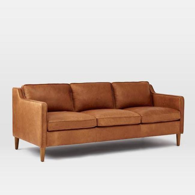 Hamilton Leather Sofa Tan