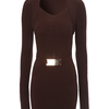 Rib Detail Jumper Dress