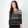 Grey multi striped jumper