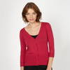 Dark pink V neck cardigan